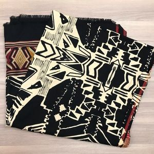 Zara African Tribal Blanket Scarf